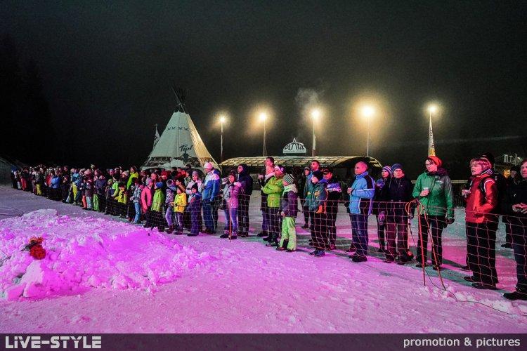 04.03.2019 - Night Ski Show Obereggen - Rosenmontag
