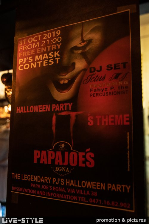 31.10.2019 - The legendary Papa Joes Halloween Party